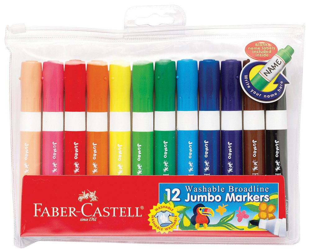 Jumbo Markers by Faber Castell, 12 count $9.99