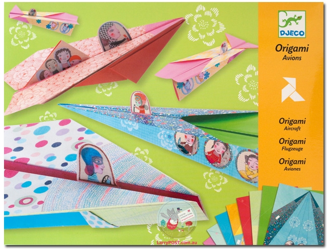 Paper Airplanes by Djeco, Ages 7+  $9.99