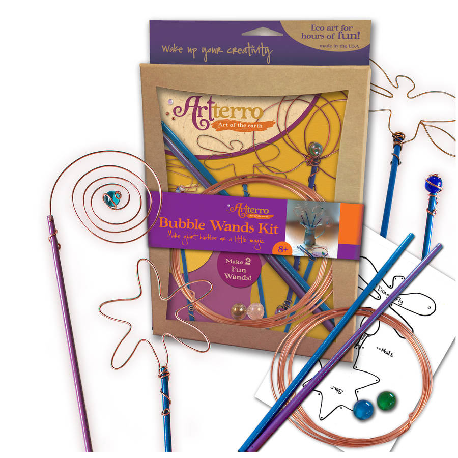 Bubble Wands Kit by Artterro, Ages 8+ $29.99