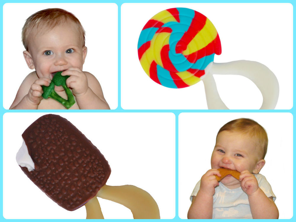 Appeteethers, available in Broccoli, Ice Cream, Chicken Wing and Lollipop $$9.99