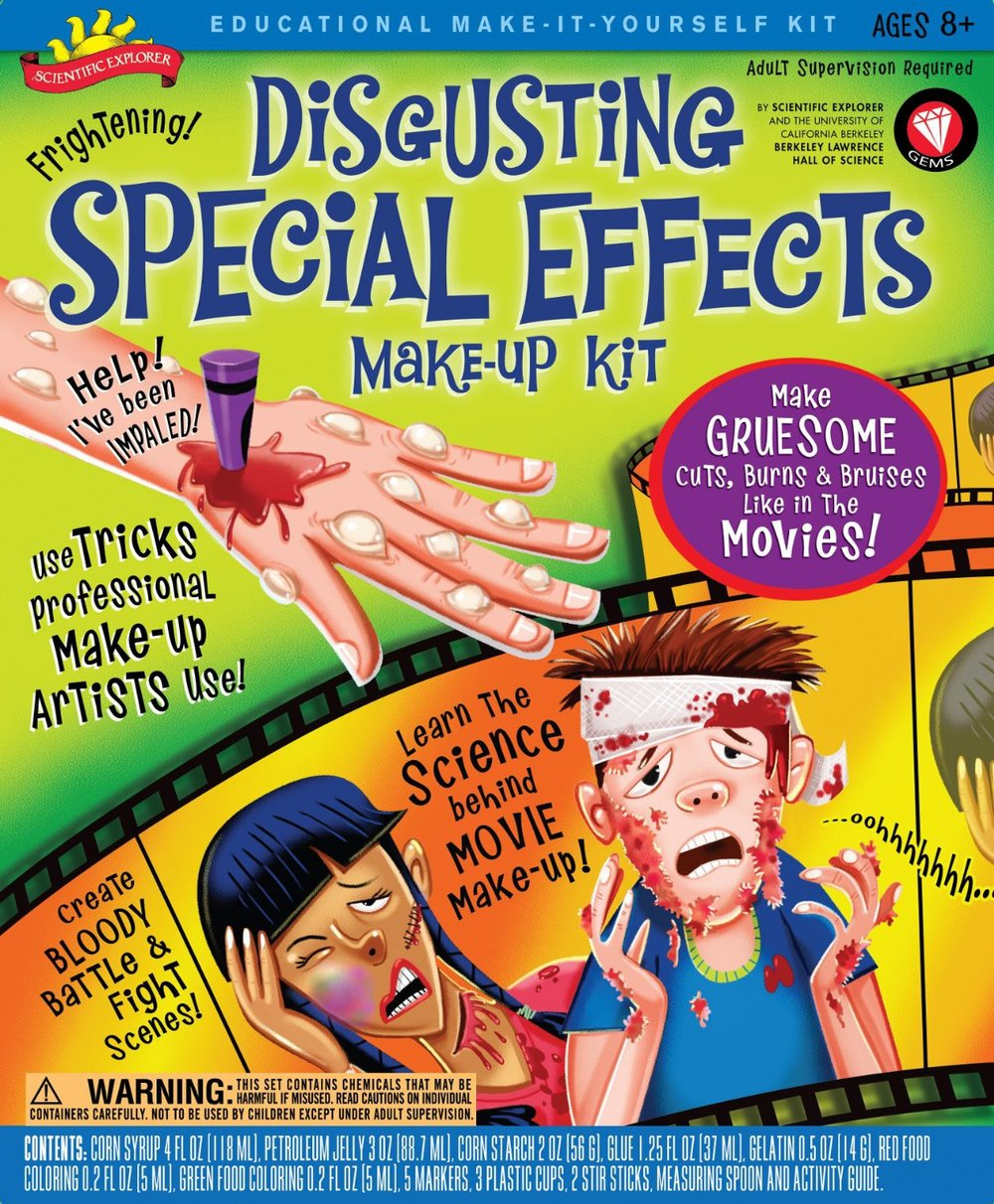 Disgusting Special Effects Make-up Kit, Ages 8+  $19.99