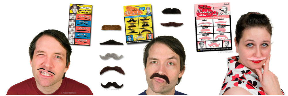Mustaches, $3.99 - $6.99