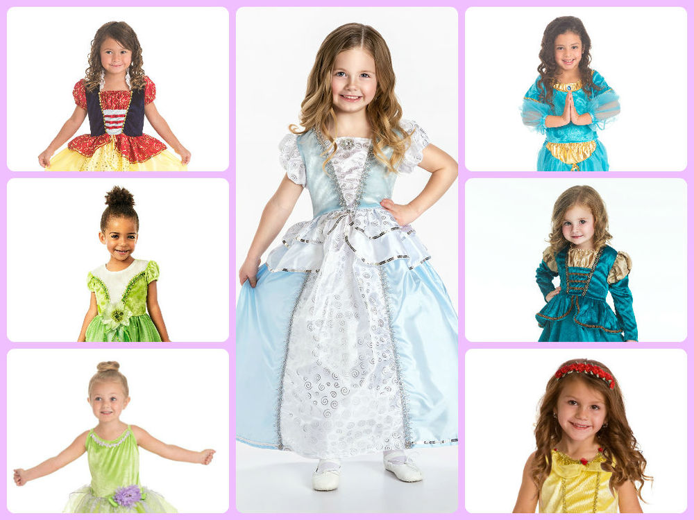 Princess dresses by Little Adventures $29.99 - $34.99Look just like your favorite princesses with these dress-up outfits. Available size small, medium, large, Ages 1-7. Machine Washable.