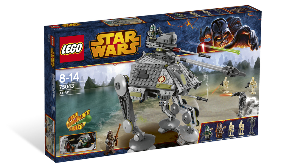 Star Wars Lego, Ages 6+ $14.99 - $79.99, AT-AP $79.99 pictured above