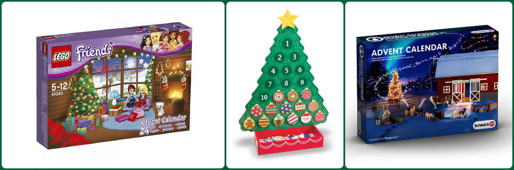 Advent Calendars: Lego Friends, Melissa & Doug & Schleich calendars currently available. Playmobil calendars available to reserve. Ages 3+ $19.99 - $49.99