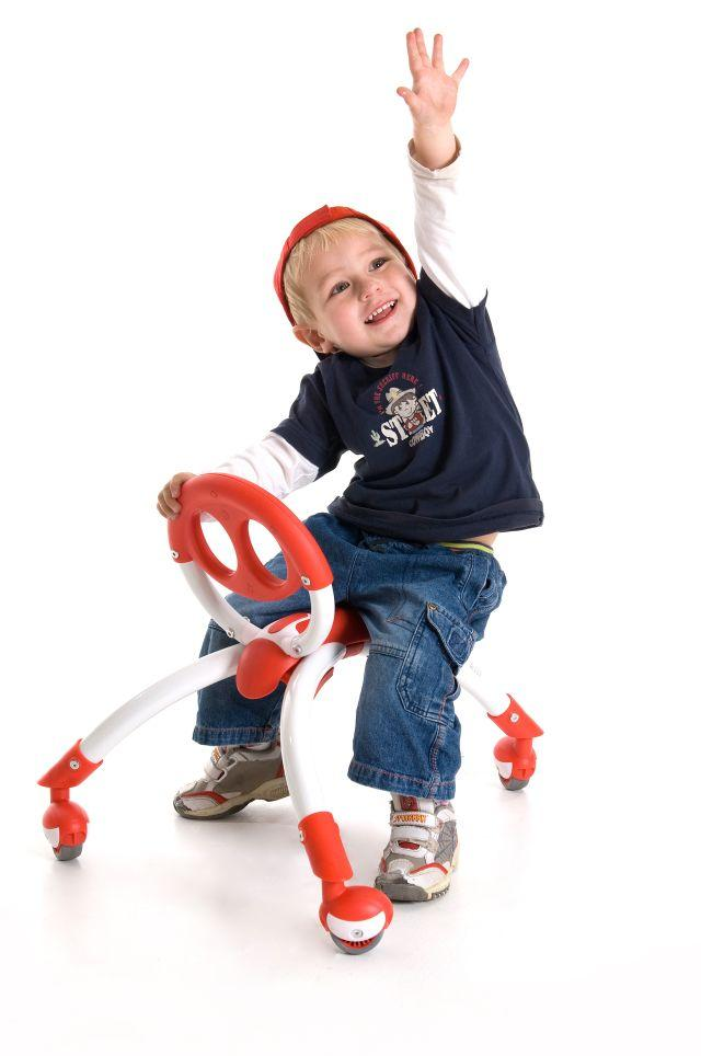 Pewi Bike, Ages 1+ $59.99 This is our favorite ride-on for anyone too small for a balance bike. From 9-12 months use it as a walker, then once your little one's ledgs are long enough spin it around and take a seat. Multiple award winner, Available in blue, red and pink.