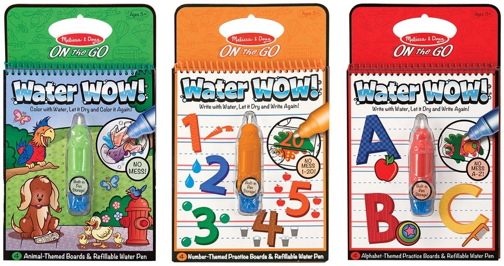 Water Wow Coloring Books by Melissa & Doug, Ages 2+ $4.99 each