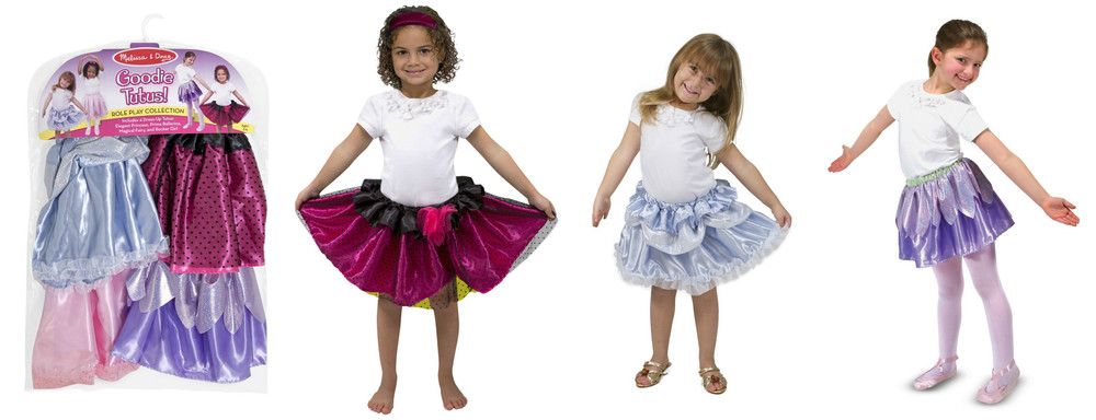 Tutu Collection by Melissa & Doug, includes 4 tutus, Ages 3-6 $29.99