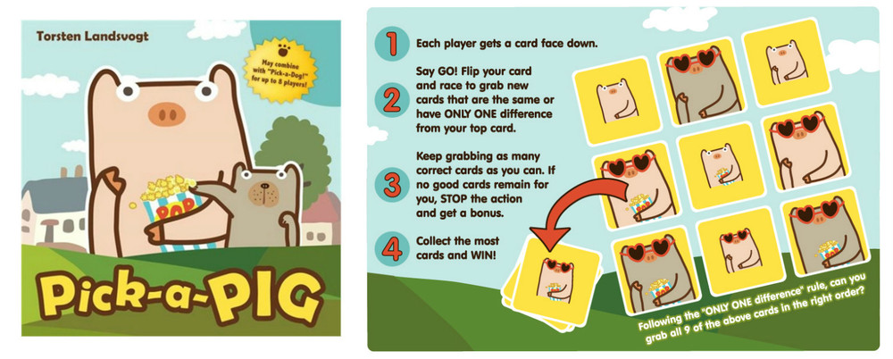 Pick-a-Pig Card Game, Ages 8+  $9.99