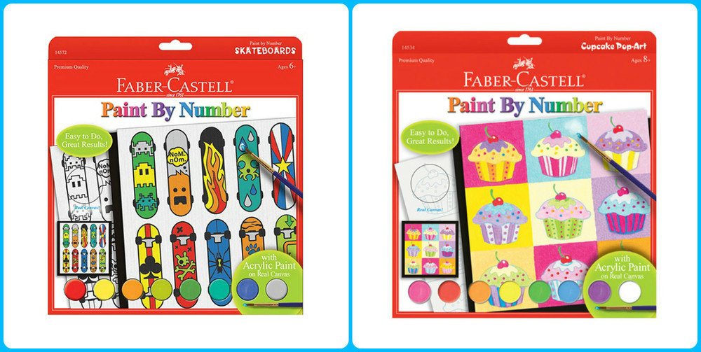 Paint by Number sets with real canvas!, Ages 6+  $9.99