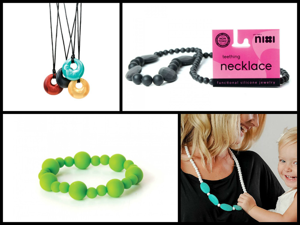 Nixi Teething Necklaces & Bracelets, $9.99 for bracelets, $12.99 - $24.99 for necklaces