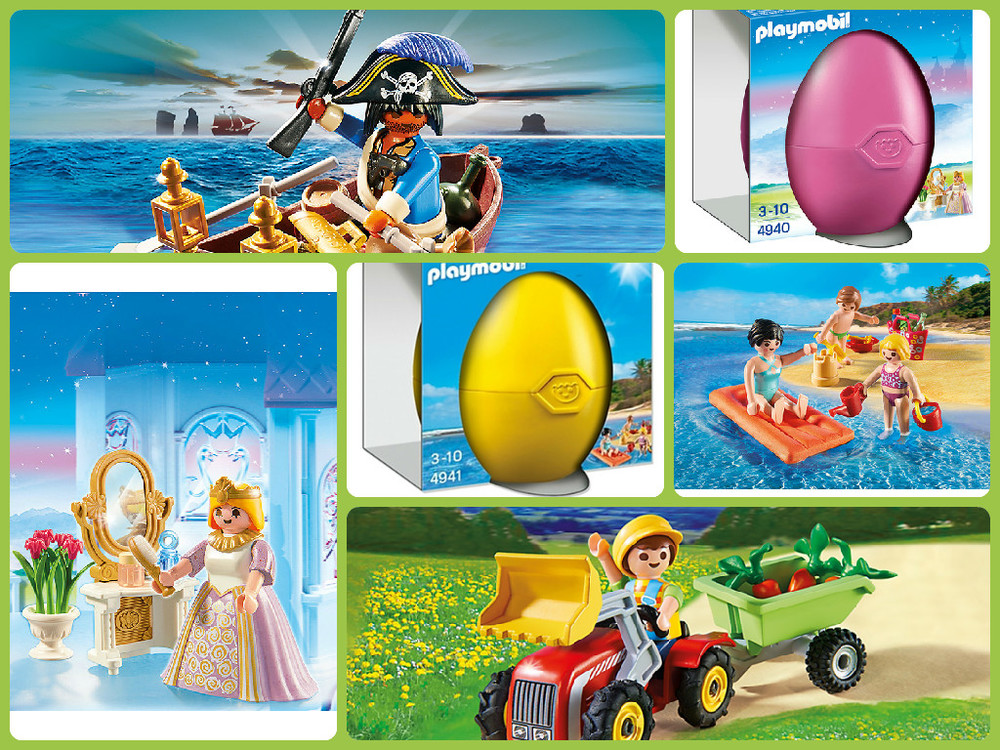 Playmobil Easter Eggs, available in Princess, Farmer, Pirate & Fun at the Beach, Ages 3+ $9.99