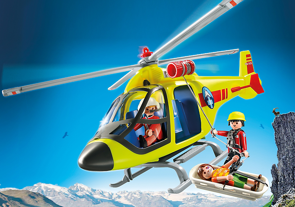 Mountain Rescue Helicopter by Playmobil, Ages 4+ $29.99