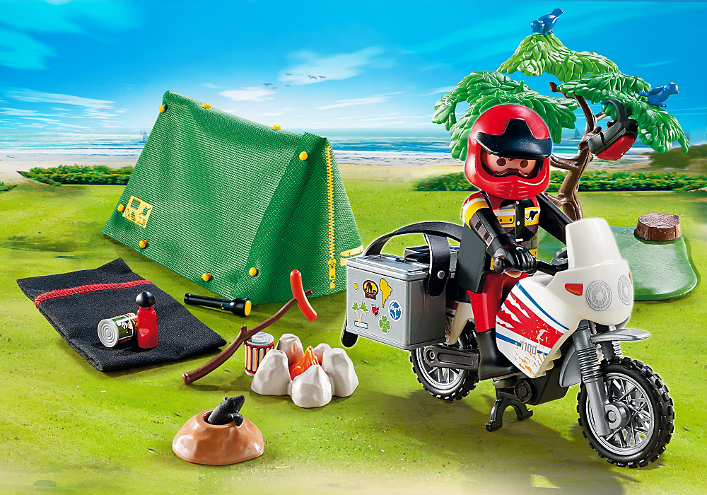Biker at Camp Site by Playmobil, Ages 4+ $19.99