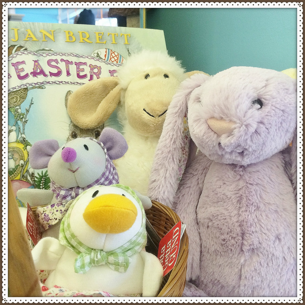 Bunnies, lambs, chicks and more! All your Easter stuffed animal needs in one stop.