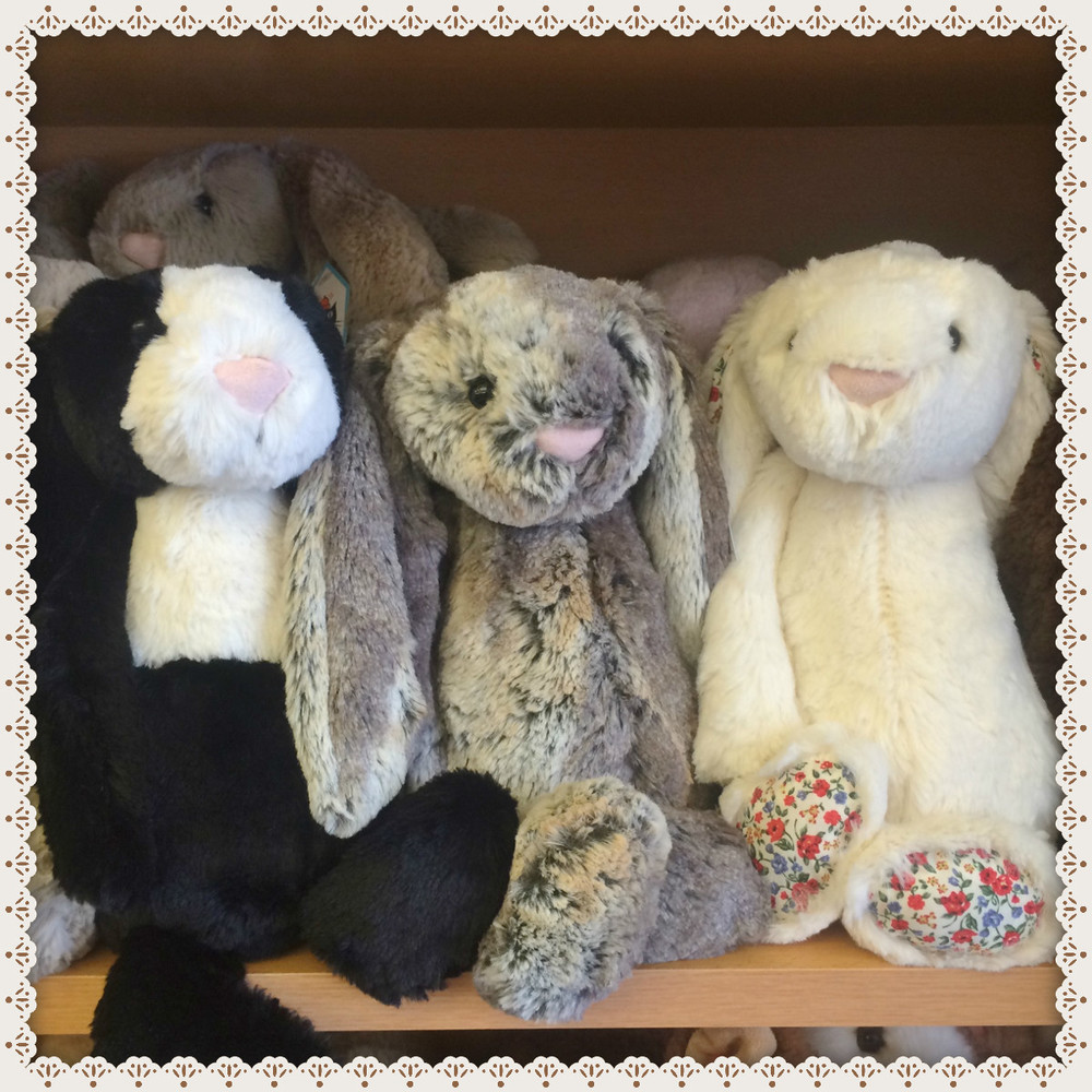 We have a great selection of Jellycat bunnies. These sell fast, so stop in soon!