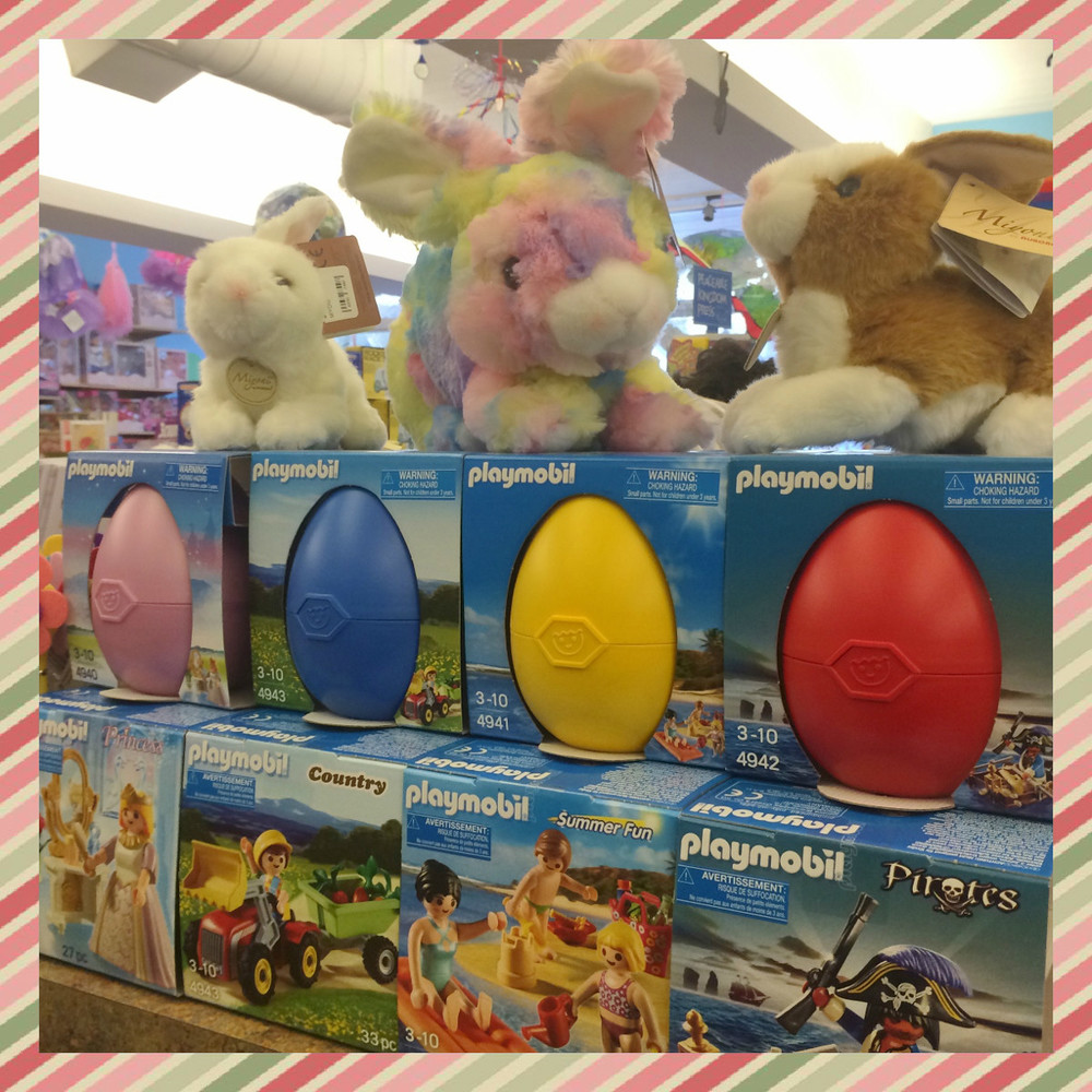 Playmobil Easter Eggs! Available in Princess, Country, Summer Fun and Pirates. $9.99