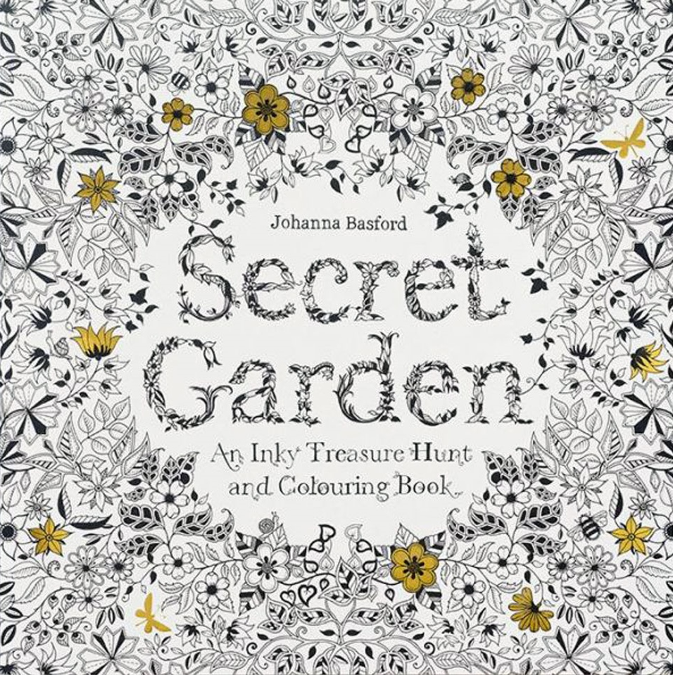 Secret Garden: An Inky Treasure Hunt and Coloring Book by Johanna Basford, Ages 8+ $15.95