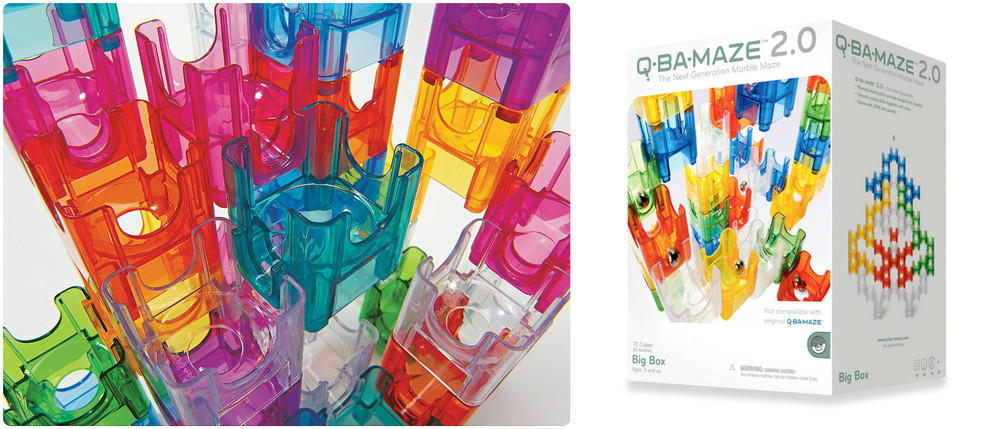 Q Ba Marble Maze, available in Big Box or Starter Sets, Ages 6+ $24.99-$39.99