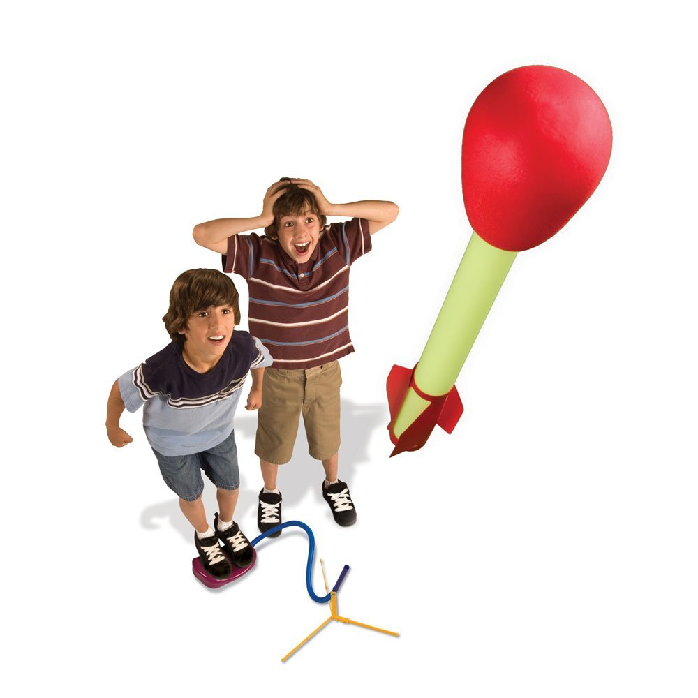 Stomp Rocket, Ages 6+ $19.99. Additional rockets available, $7.99 for a two pack.