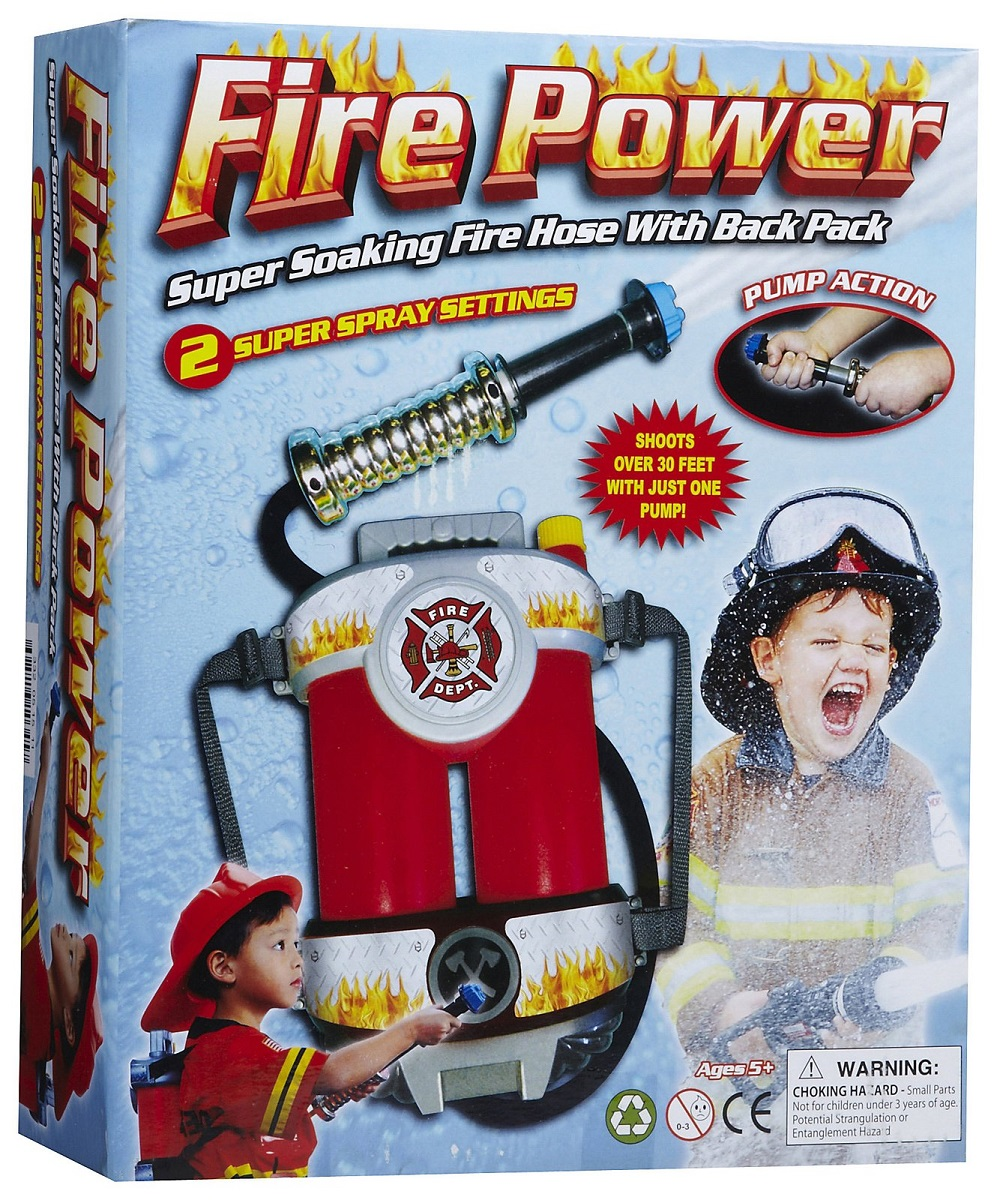 Fire Power Hose Backpack, Ages 5+ $14.99