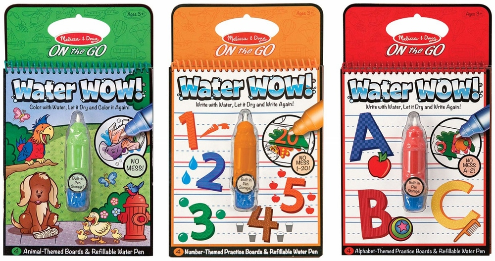 Water Wow by Melissa & Doug, also available in Fairy Tale, Vehicles and Makeup & Manicure, ages 3+ $4.99