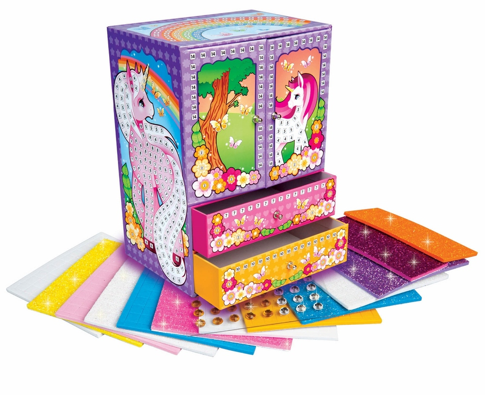 Magical Unicorn Jewelry Box Kit, Ages 5+ $19.99