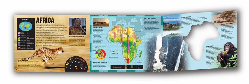 Each page includes an interactive map and tons of facts. Did you know a rhino's horn can grow up to four feet long?!
