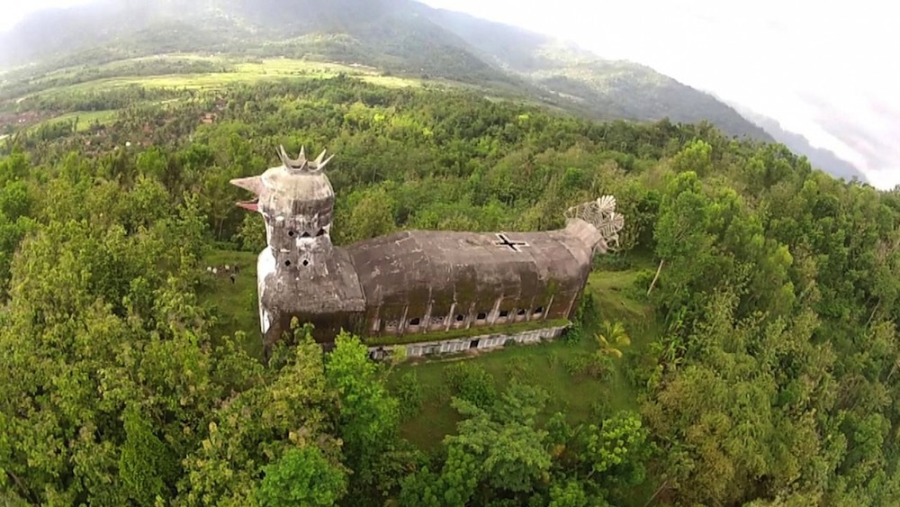 An Abandoned Indonesian Church Shaped Like a Massive Clucking Chicken