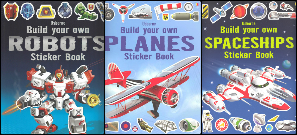 Build Your Own Sticker Books, Ages 3+ $8.99
