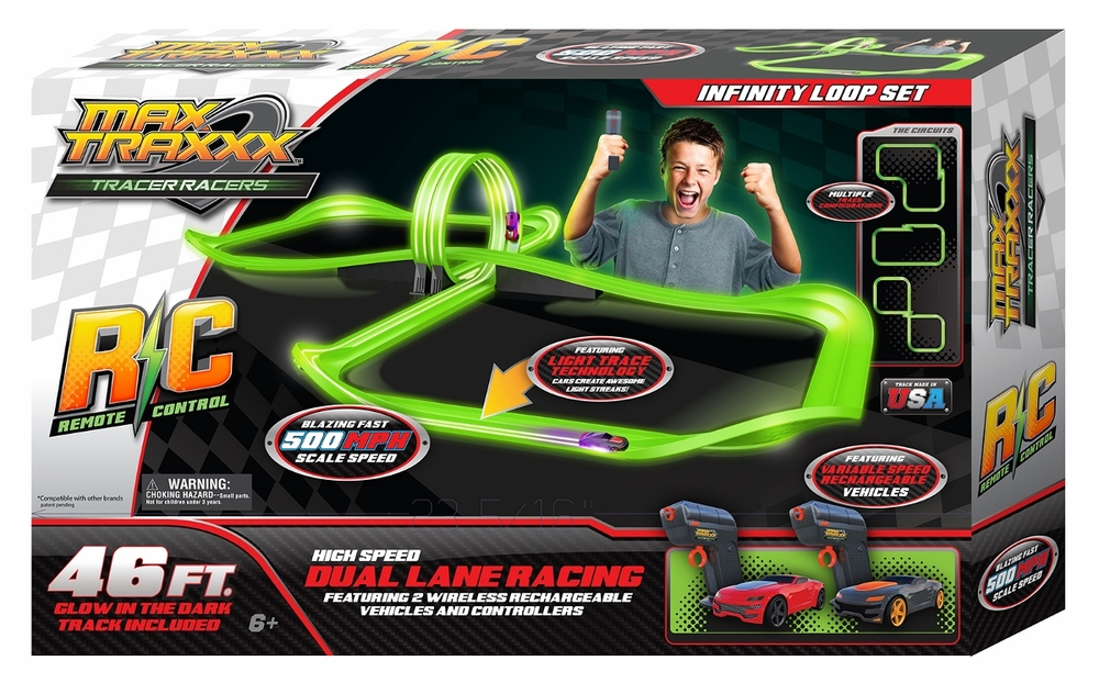 Max Traxx Dual Lane RC Racing:Infinity Loop Set, Ages 6+ $119.99