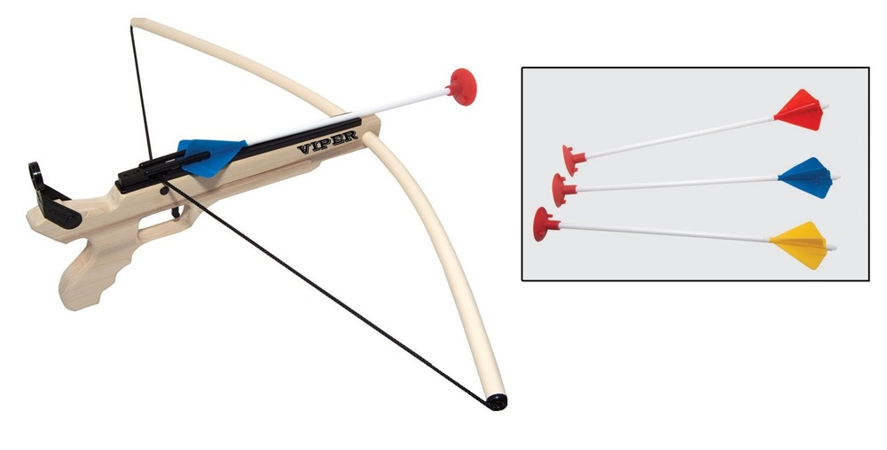 Cross bow, Ages 8+ $27.99 (extra arrows, $7.99 for 3)