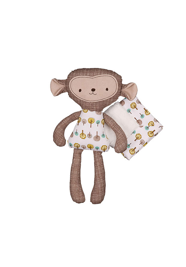 Lolli Living Rocco Monkey & Blankie $29.99