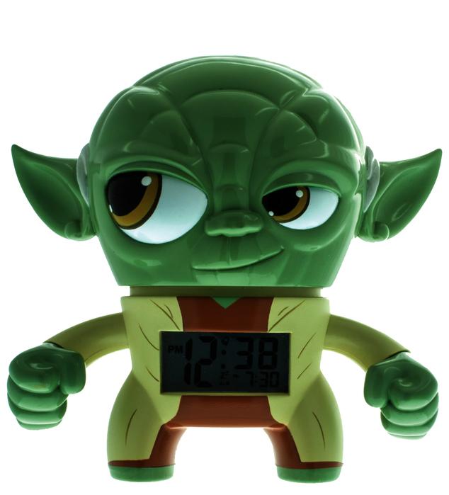 Bulb Botz Alarm Clocks, shown in Yoda, Ages 6+ $39.99