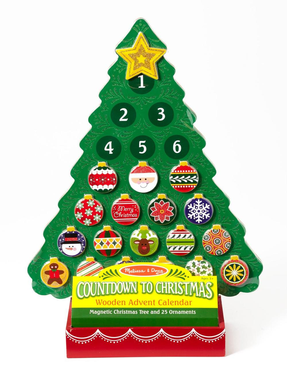 Countdown to Christmas: magnetic Christmas tree and ornaments, Ages 3+ $19.99