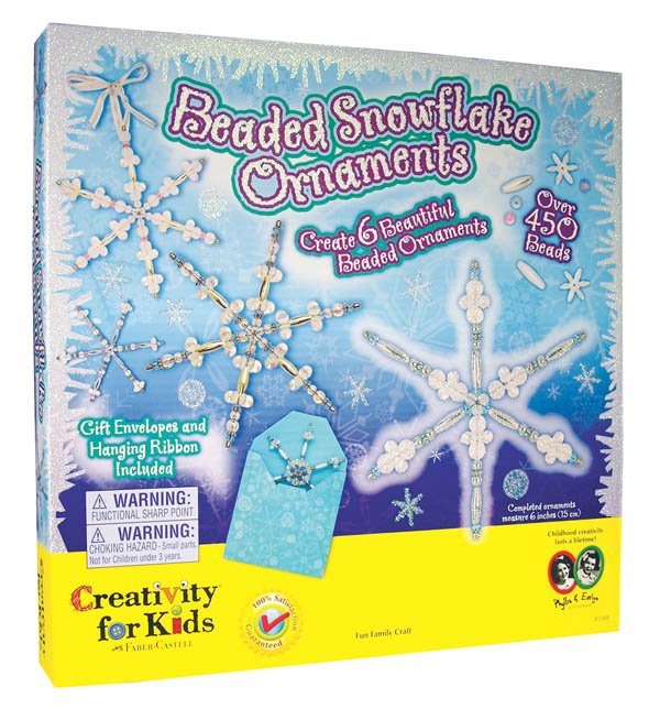 Beaded Snowflake Ornament Kit, Ages 8+ $22.99