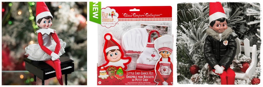 From left to right: Claus Couture Dazzling Dress $9.99, Little Chef Cookie Kit $14.99, uffy North Pole Parka $9.99