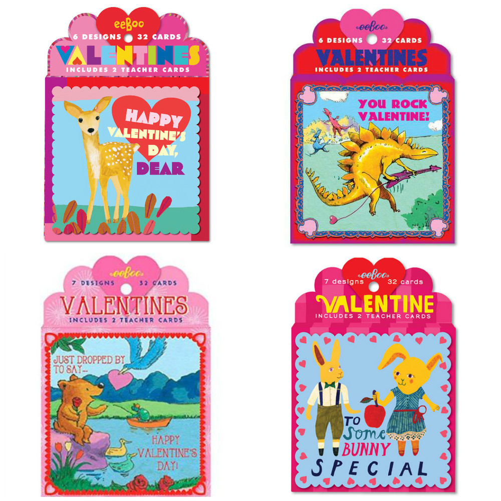 Valentine Cards by Eeboo, includes 30 cards and 2 teacher cards $7.99
