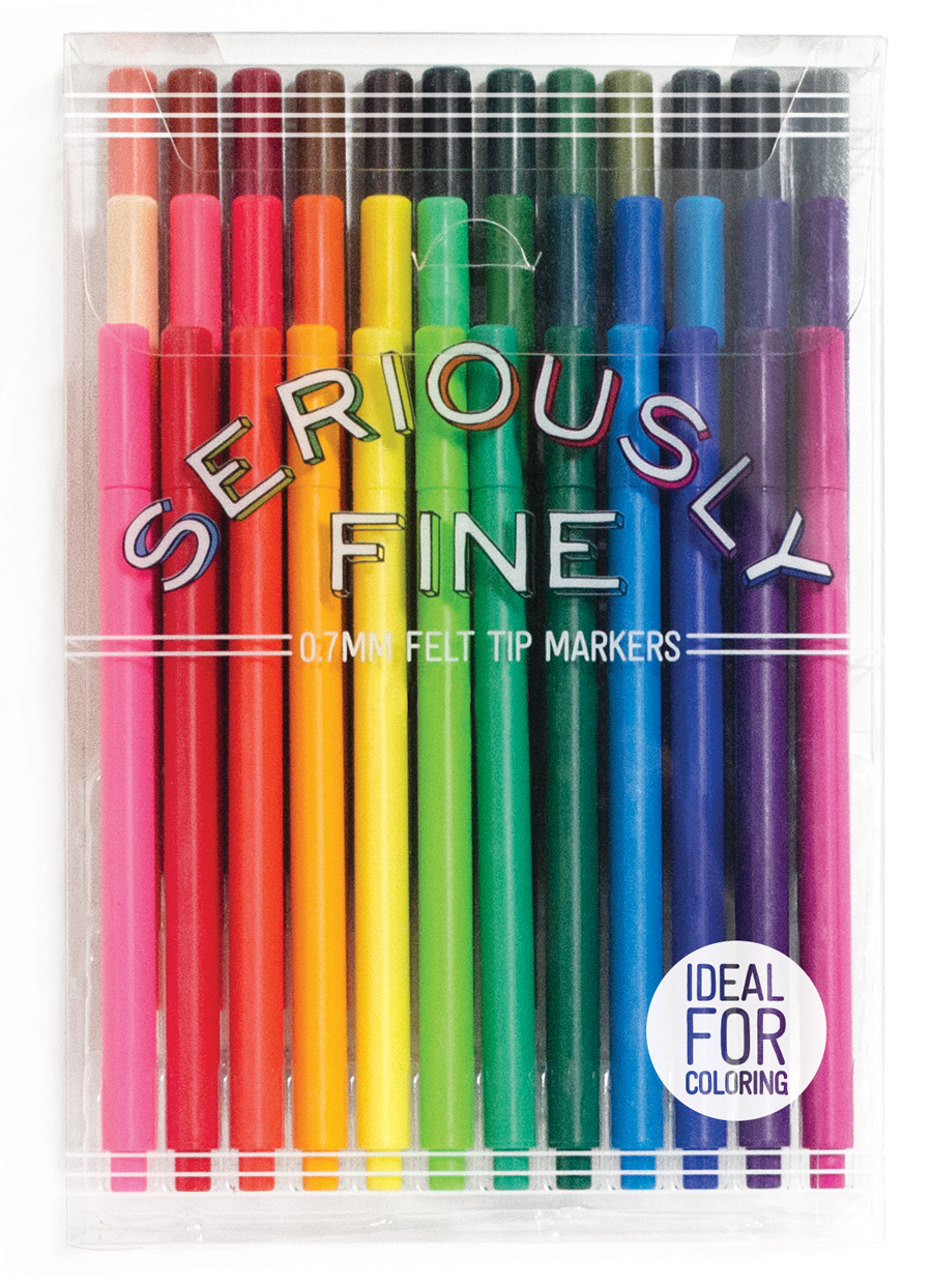Seriously Fine Markers, 36 piece set $17.99