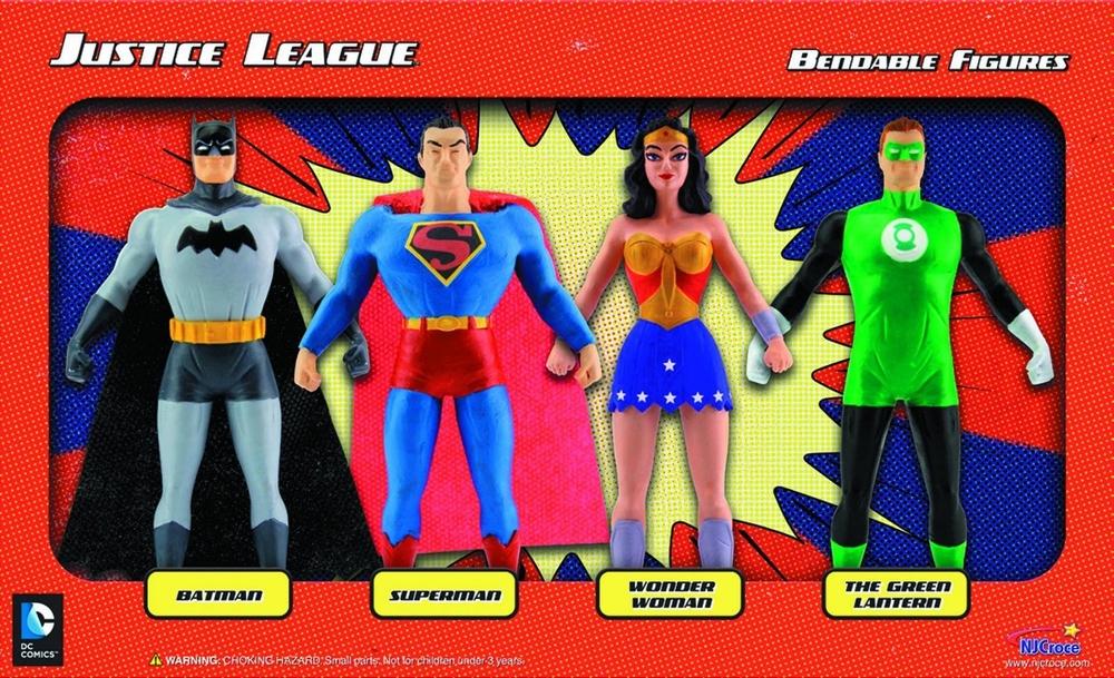 Justice League Bendable Figures, Ages 3+ $29.99