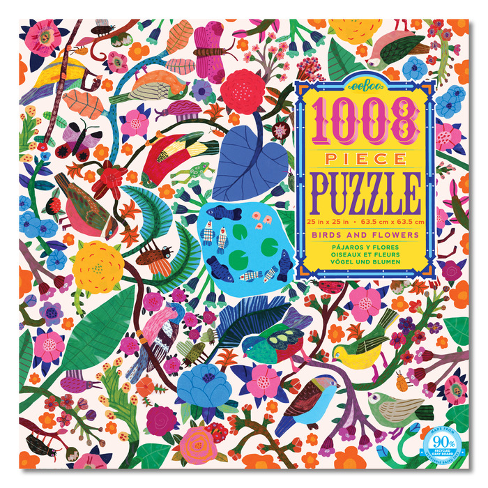 1008 piece puzzles by eeboo, ages 8+  $17.99