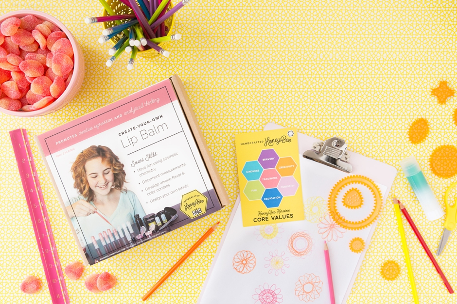 Create Your Own Lip Balm by Handcrafted Honeybee, Ages 7+ $29.99