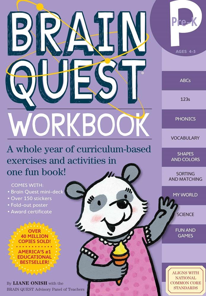 Brain Quest Workbooks, Grades Pre-K thru 5 $12.95