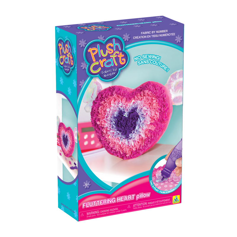 Fluttering Heart Pillow Craft Kit, 4+, $17.99
