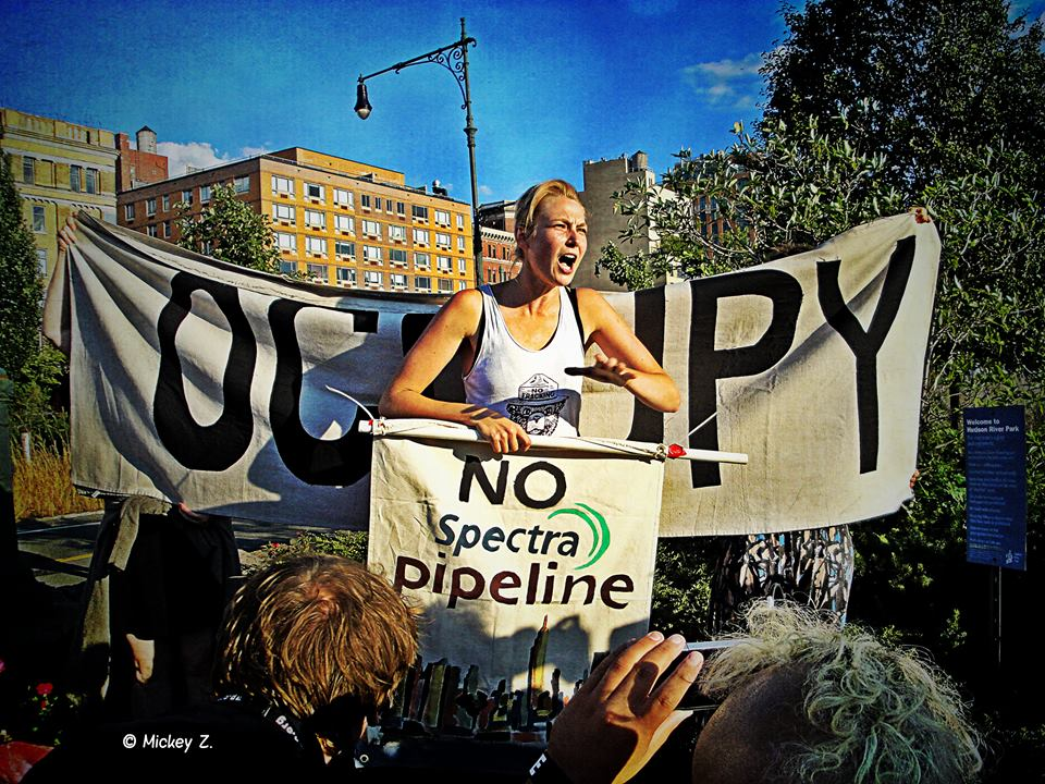 Occupy the Pipeline- protest against Spectra Pipeline.  Photo-Giles Clarke