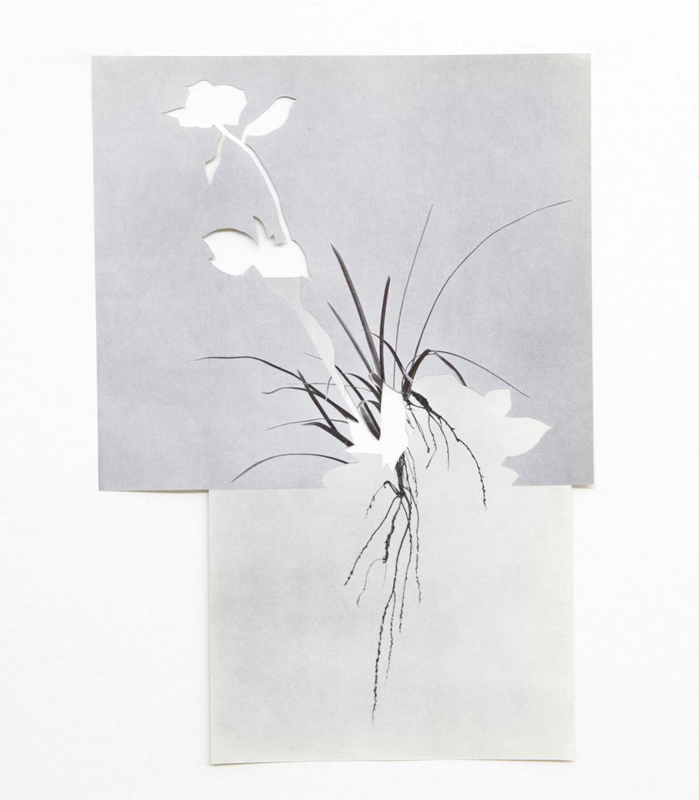 shape/ khamsin, 2014  , paper, glue ,