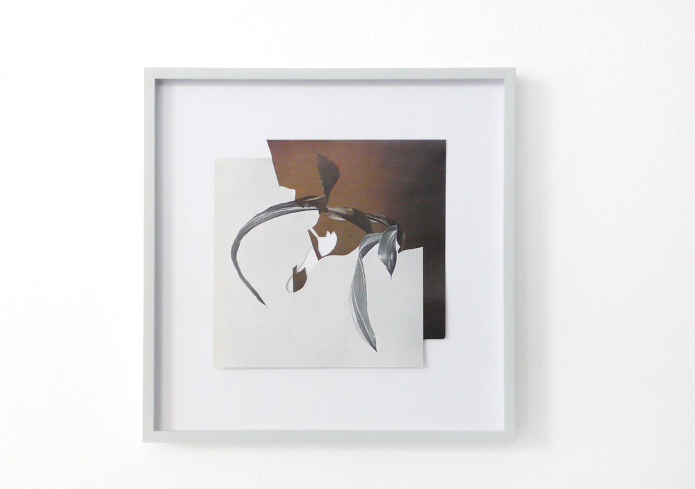 shape/ lodos, 2014  , paper, glue, 26,5 x 26,5cm
