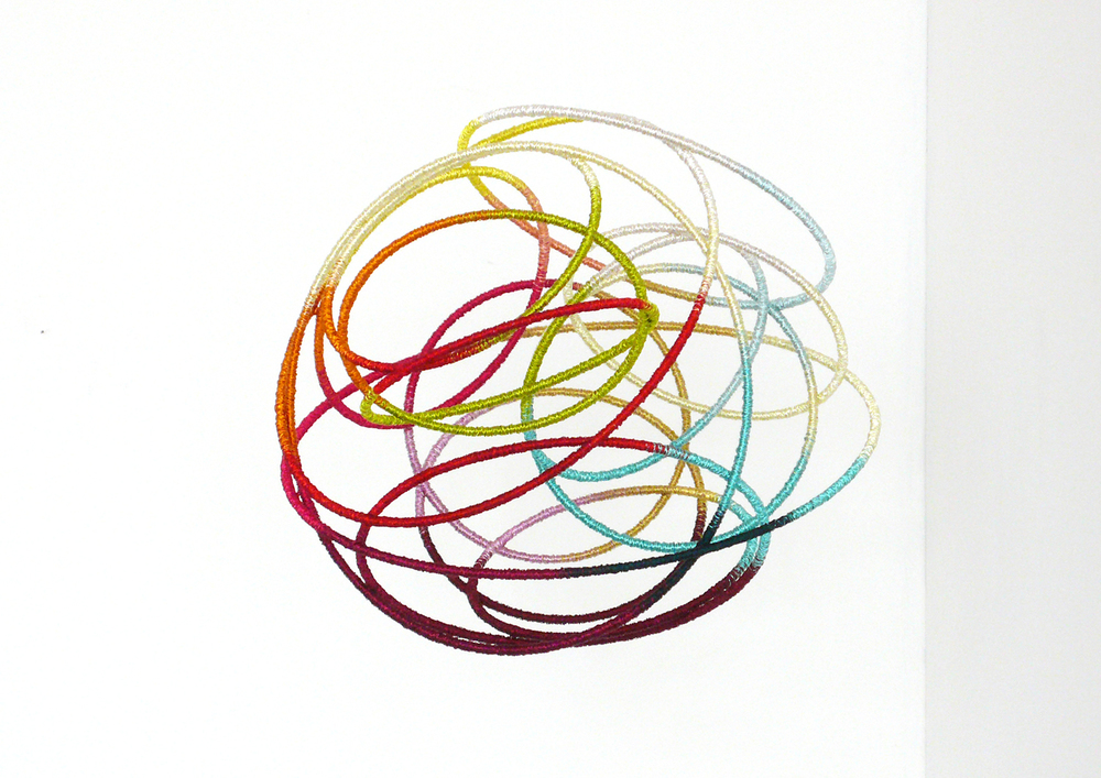 gust, 2012, metal, wire, diameter 30cm