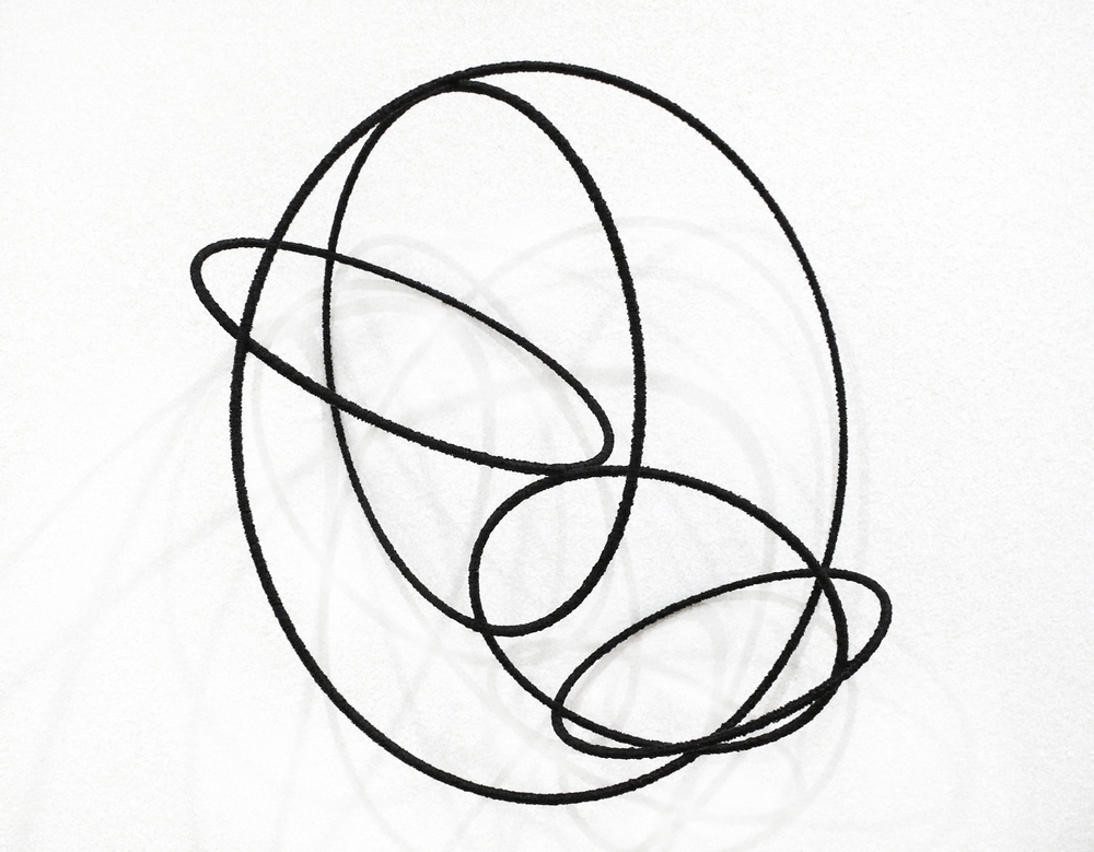 island lV, 2012, metal, wire, diameter ca 30cm