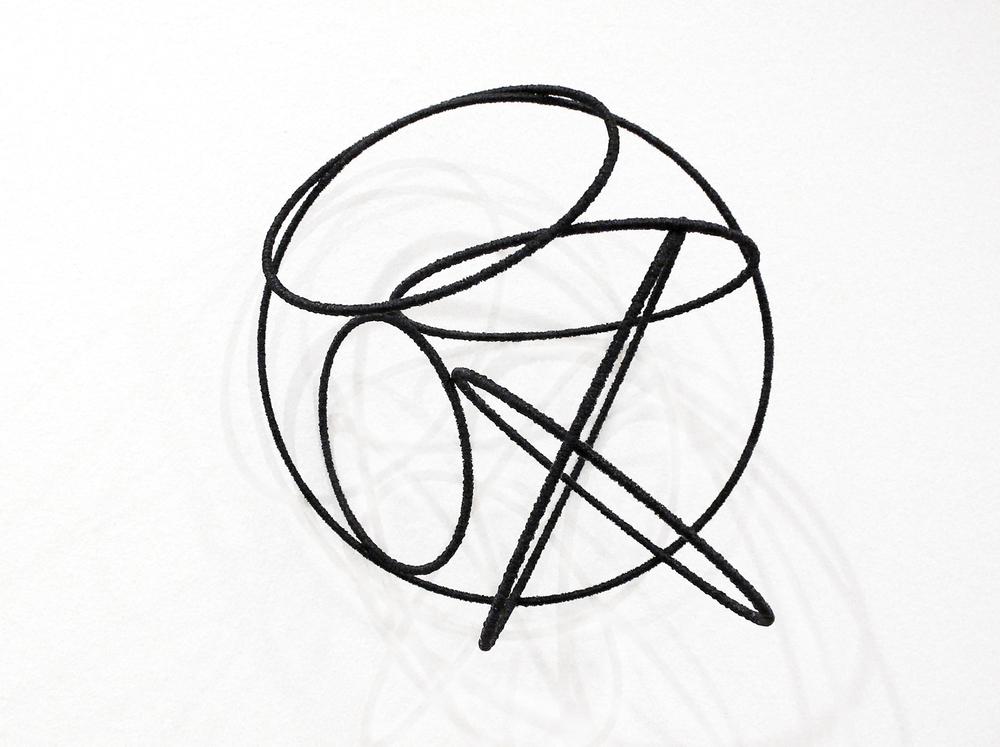 Island lll , 2012, metal, wire, diameter ca 30cm